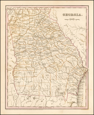 Southeast and Georgia Map By Thomas Gamaliel Bradford