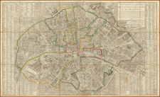 France and Paris Map By Jacques Esnauts