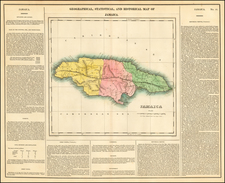 Caribbean and Jamaica Map By Henry Charles Carey  &  Isaac Lea