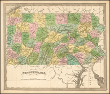 Mid-Atlantic and Pennsylvania Map By Jeremiah Greenleaf