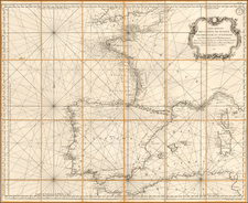 France, Spain and Portugal Map By Depot de la Marine