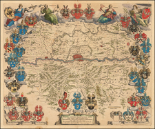 Germany Map By Johannes et Cornelis Blaeu