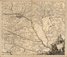 Austria and Hungary Map By Johannes De Ram