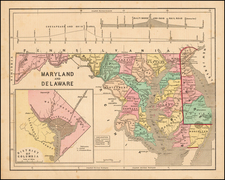 Mid-Atlantic, Maryland and Delaware Map By Sidney Morse