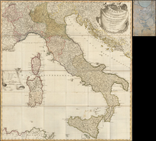 Italy Map By Artaria & Co.