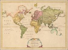 World and World Map By Eberhard August Wilhelm von Zimmermann