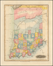 Indiana Map By Fielding Lucas Jr.