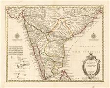 India & Sri Lanka Map By Guillaume De L'Isle / Philippe Buache / Jean-Claude Dezauche