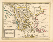 Greece Map By Herman Moll