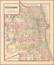 Midwest, Illinois and Chicago Map By O.W. Gray