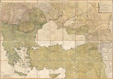 Austria, Russia, Hungary, Romania, Balkans, Central Asia & Caucasus, Turkey & Asia Minor and Greece Map By Johann Christoph Rhode