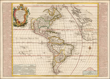 South America and America Map By Louis Pierre Daudet