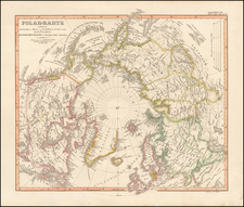Northern Hemisphere and Polar Maps Map By Adolf Stieler