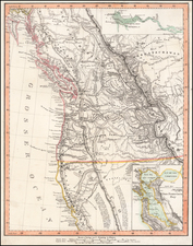 Pacific Northwest, Oregon, Washington and California Map By Carl Flemming