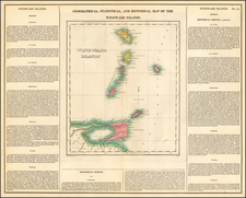 Geographical, Statistical and Historical Map of The Windward Islands By Henry Charles Carey  &  Isaac Lea