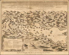 Spain and Spanish Cities Map By Paul de Rapin de Thoyras