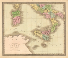 Italy Map By Jeremiah Greenleaf