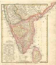 Asia and India Map By Robert Wilkinson