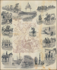 India and Pictorial Maps Map By Reginald Augustus  Wymer