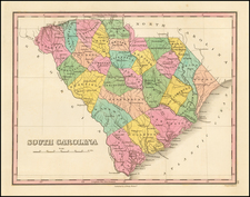 Southeast and South Carolina Map By Anthony Finley