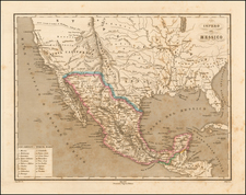 Texas, Southwest, Rocky Mountains and California Map By Francesco Pagnoni