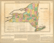 New York State Map By Henry Charles Carey  &  Isaac Lea