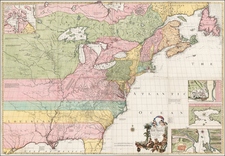 United States, New England, Mid-Atlantic, Southeast, Midwest and North America Map By John Mitchell / Covens & Mortier