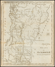 New England and Vermont Map By Joseph Scott