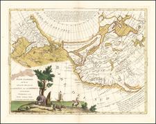 Polar Maps, Pacific Northwest, Alaska, North America, Pacific, Russia in Asia and Canada Map By Antonio Zatta