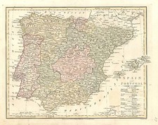 Europe, Spain and Portugal Map By Robert Wilkinson