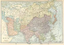 Asia and Asia Map By George F. Cram