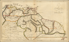 Guianas & Suriname and Venezuela Map By Mathew Carey