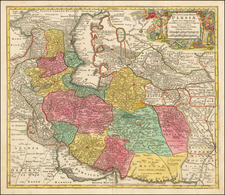 Central Asia & Caucasus and Middle East Map By Tobias Conrad Lotter