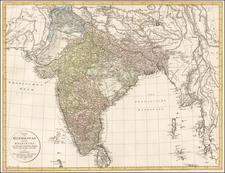 India Map By Adam Gottlieb Schneider