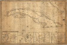 Caribbean and Cuba Map By John William Norie
