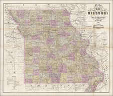 Missouri Map By John T Fiala  &  Edward Haren