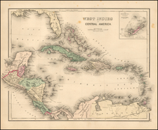 Caribbean and Central America Map By OW Gray