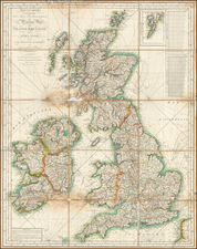 British Isles Map By Charles Picquet