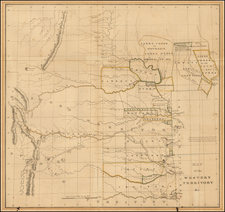 Plains, Nebraska, Oklahoma & Indian Territory and Southwest Map By Washington Hood