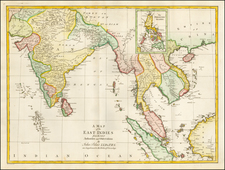 India, Southeast Asia and Philippines Map By John Blair