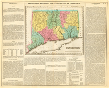 Connecticut Map By Henry Charles Carey  &  Isaac Lea