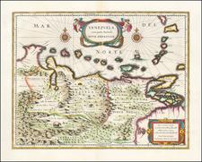 Venezuela cum parte Australi Novae Andalusiae  By Willem Janszoon Blaeu