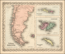 South America, Australia & Oceania and Other Pacific Islands Map By Joseph Hutchins Colton