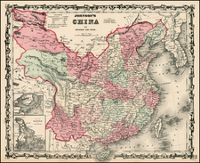Asia, China and Korea Map By Benjamin P Ward  &  Alvin Jewett Johnson