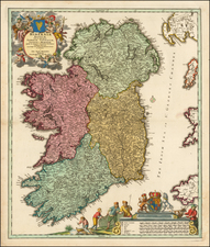 Ireland Map By Johann Baptist Homann