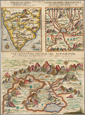 Africa, Africa, Egypt, North Africa, South Africa, East Africa and West Africa Map By Athanasius Kircher