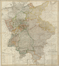 Germany and Czech Republic & Slovakia Map By F.W. Streit