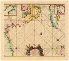 Florida, Caribbean and Cuba Map By Johannes Van Keulen