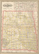 North Dakota and Canada Map By George F. Cram
