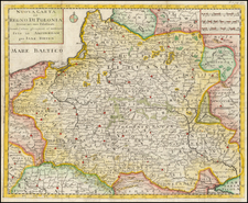 Poland and Ukraine Map By Giambattista Albrizzi